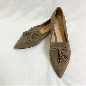 Sole Society Taupe Hadlee Flats 9.5